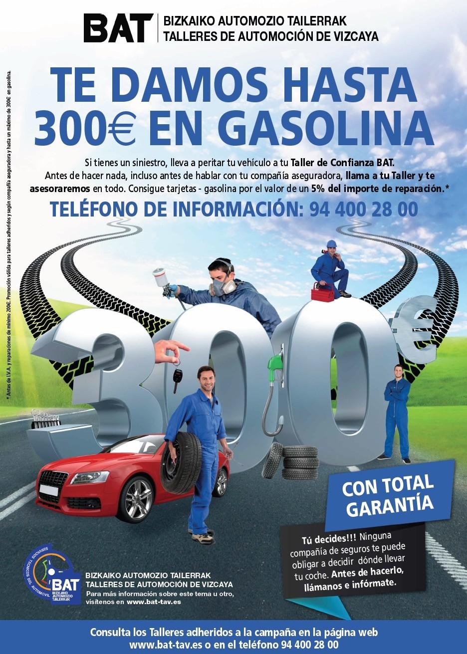 BAT ofrece tarjetas de gasolina de hasta 300€