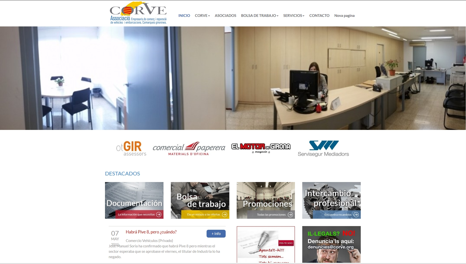 CORVE nueva web