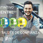 Los talleres suministrarán los distintivos ambientales de los vehículos