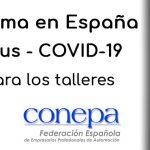 CETRAA-CONEPA: Información para los talleres sobre el Estado de Alarma