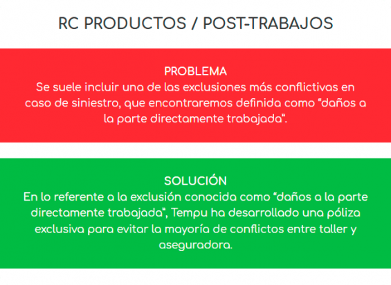 Póliza CETRAA - RC Productos / Post-trabajos