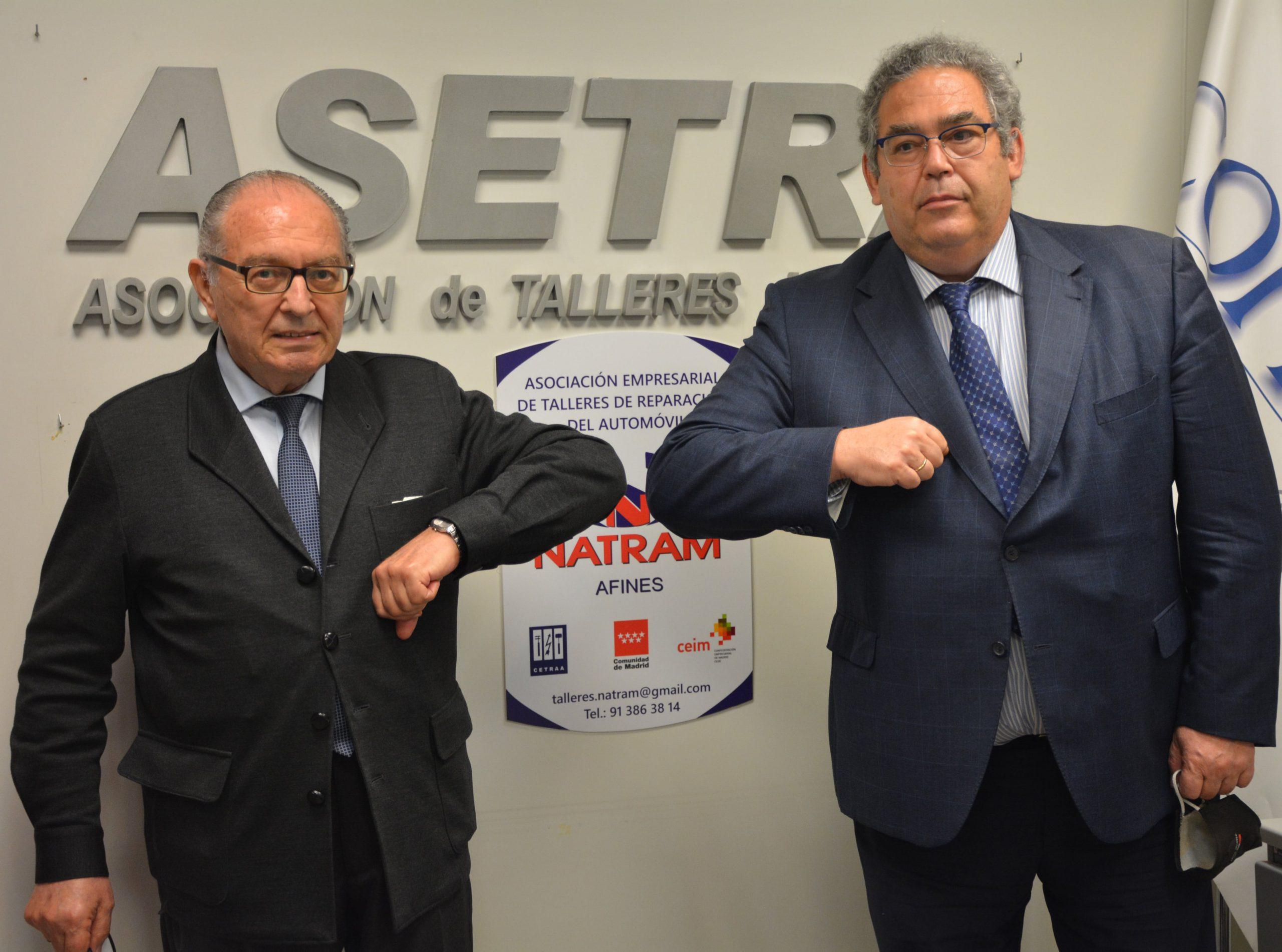 Ramón Marcos, presidente de ASETRA, y Aniceto Guzmán, presidente de NATRAM