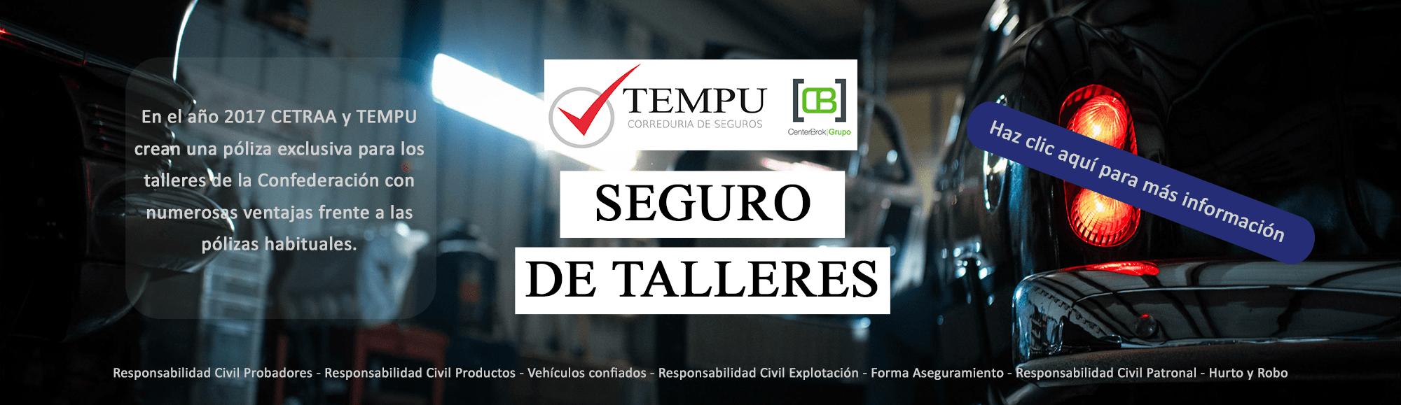 TEMPU - Seguro para talleres CETRAA